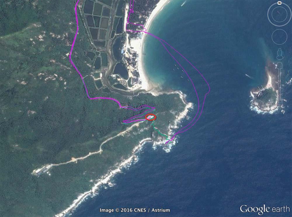 黑岩角GPS路径